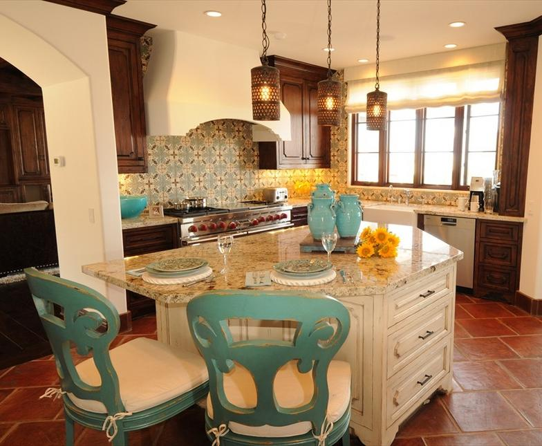 Love the cans on the lights spanish style homes pinterest for California style kitchen